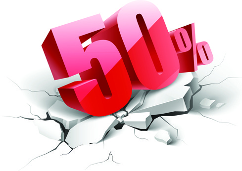 creative discount percent design vector background
