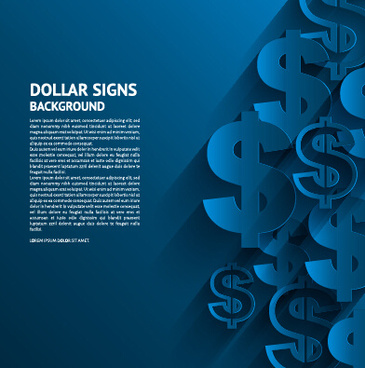 creative dollar signs background vector