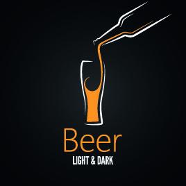 creative drink logos design vector