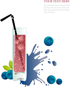 creative drinks and glass cup background vector