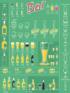 creative drinks elements infographics vector