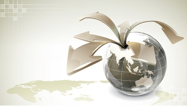 global background template dynamic 3d arrows decor