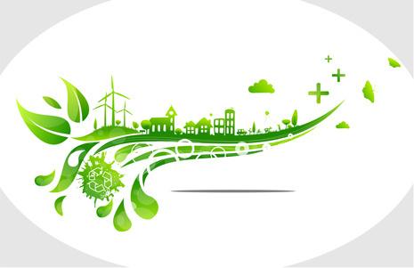 creative ecology city background illustration