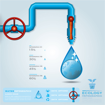 creative ecology water infographics vector