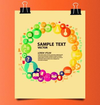 creative education idea infographics vector