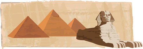 creative egypt pyramids background vector graphics