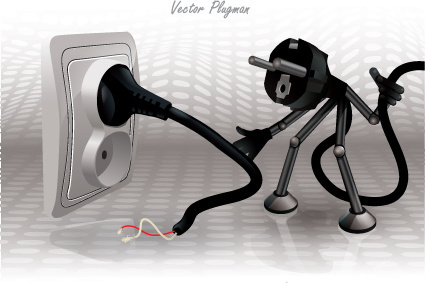 creative electricity design elements vector set