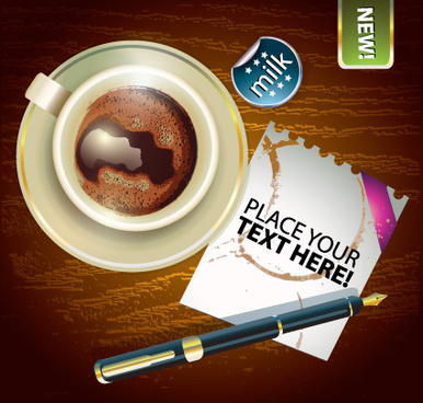 creative elements cup of coffee vector
