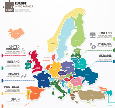 creative europe infographics vector