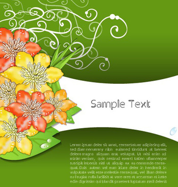 creative flowers and you text backgrounds vector