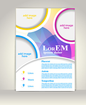 creative flyer and cover brochure design vector
