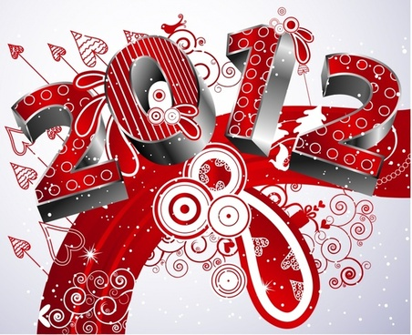 creative fonts 2012 starlight vector