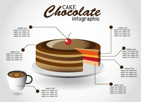 creative food infographics elements vector