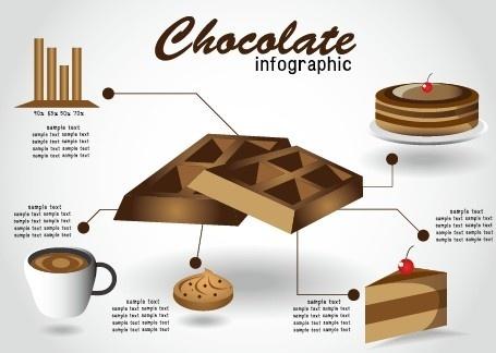 creative food infographics elements vector