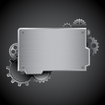 creative gears vector background art