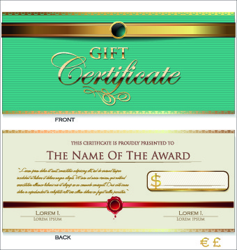 Gift Certificate Template Free Vector Download Free Vector - Gift certificate template ai
