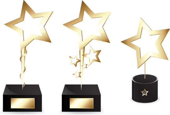 creative golden awards vector