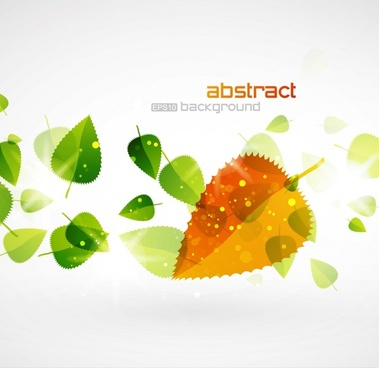 leaves background bright modern colorful transparent design