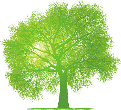 creative green tree design vector graphics