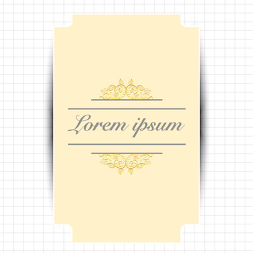 creative greeting card for your text vector