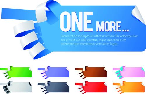 creative hand gesture sticker vector