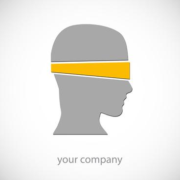 creative head design art vector