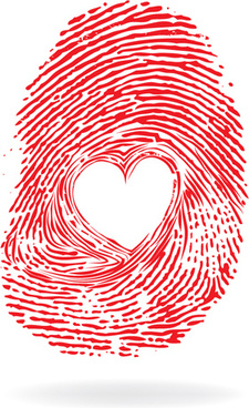 creative heart art design elements vector