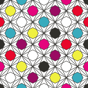 creative hexagon seamless pattern vector