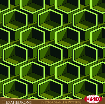 creative hexahedron vector seamless pattern vector