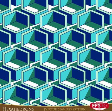 creative hexahedron vector seamless pattern vector