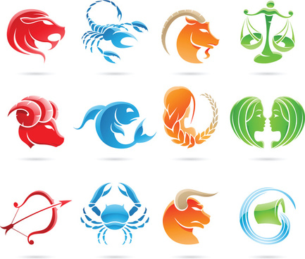 creative horoscope design vector