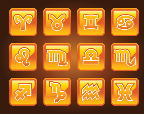 creative horoscope design vector