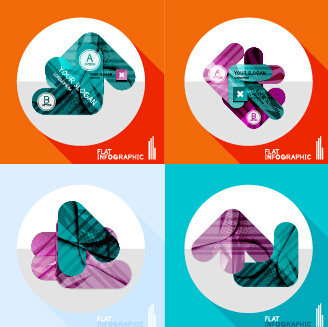 creative infographic flat icons vector