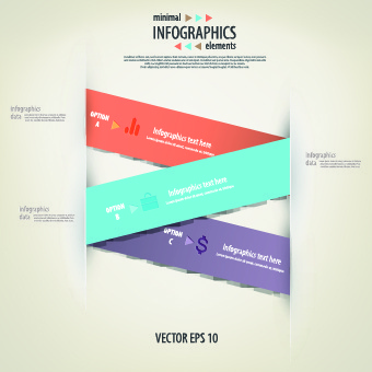 creative infographic with number design vector