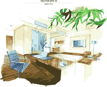 Interior Sketch Free Vector Download 4 747 Free Vector For