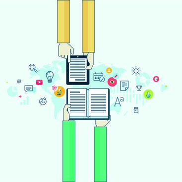 creative internet communication business template vector