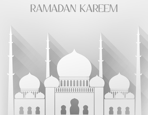 creative islamic mosque vector background