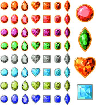 creative jewels vector set