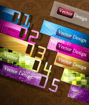creative label design 02 vector