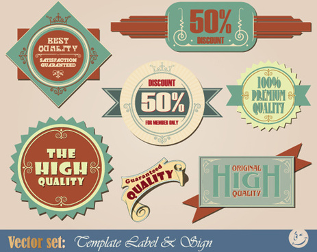 creative leather label vector