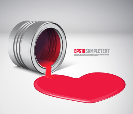 creative love concept design elements vector