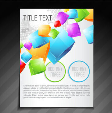creative magazine cover abstract design vector
