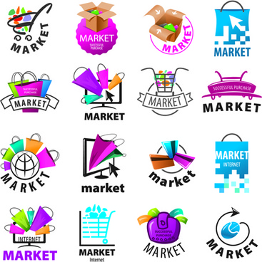 creative market logos vector set