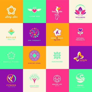creative medical and healthcare logos vector set