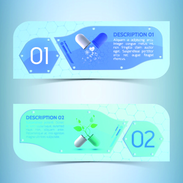 creative medical banner with number vector