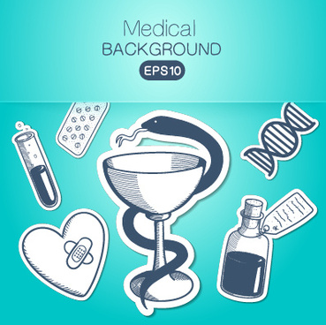 creative medical elements background vector grahpics