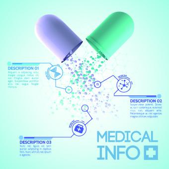 creative medical info design vector