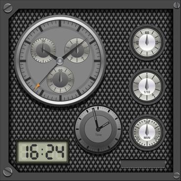 creative meter design elements vector