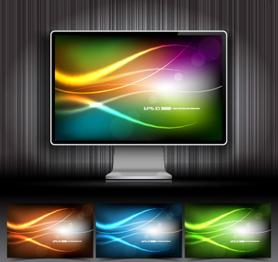 creative monitor design elements vector