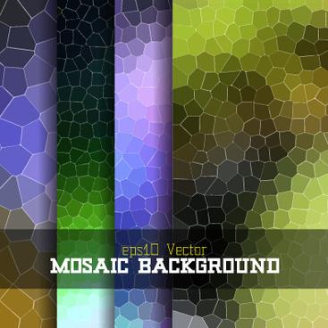 creative mosaic background art vector